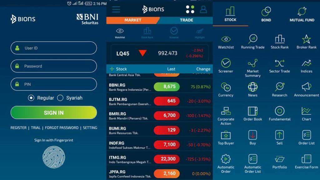 tampilan aplikasi BIONS © blog ranselnotes