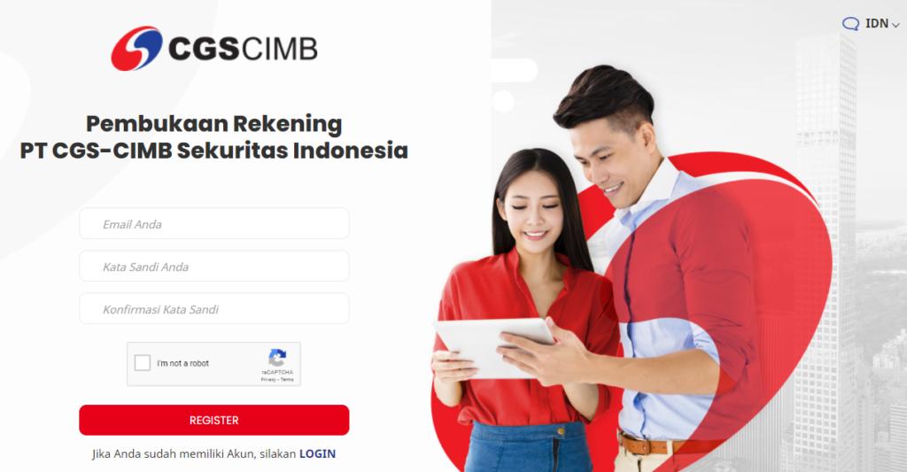 cara pendaftaran rekening saham di CGS CIMB